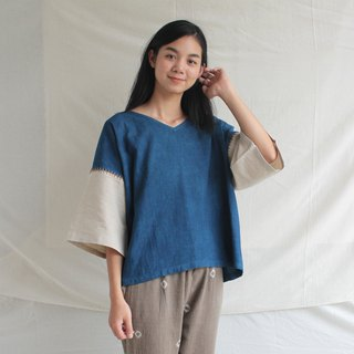 linnil: Indigo night / Almost square blouse