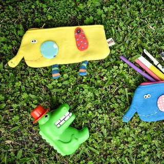 Elephant zipper pencil case