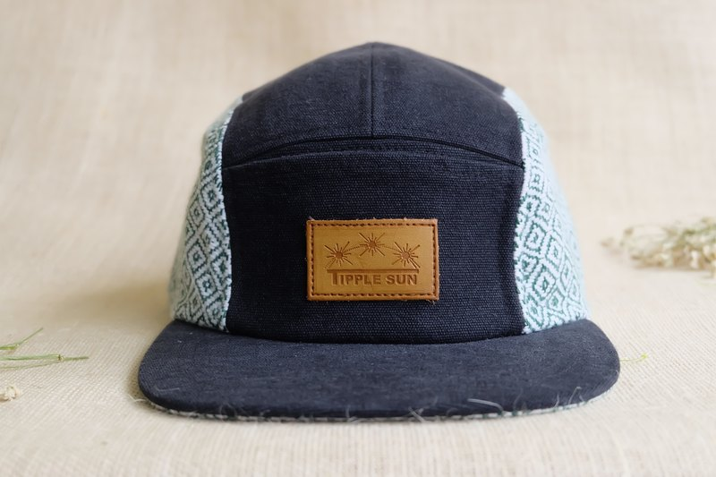 Tipple Sun Cap (Black/Traditional fabric oliver green)