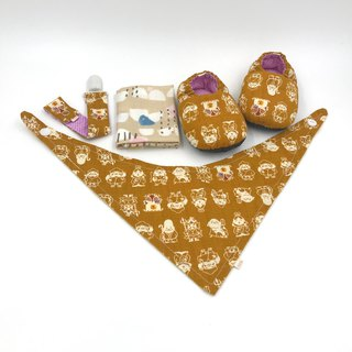 Miyue baby gift box (toddler shoes / baby shoes / baby shoes + single buckle suspenders + scarf + handkerchief)