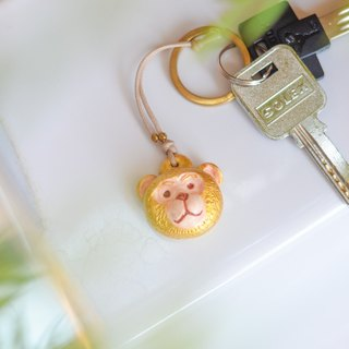 The lucky golden monkey chain(key ring) from Niyome Clay.
