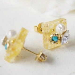 Dessert ♡ earrings / earrings (yellow)