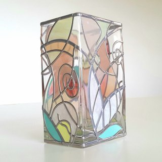 Glass Art Vase Rectangle  Florence