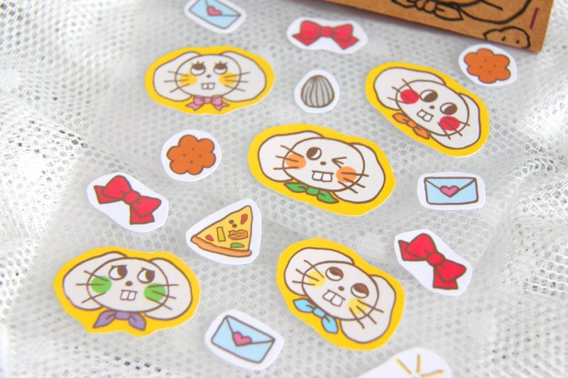 Baked wheat cake stickers