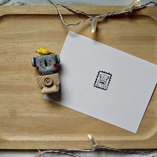 Hand engraved rubber stamp stationery / small iron head to take the seal - stamp chapter I love you
