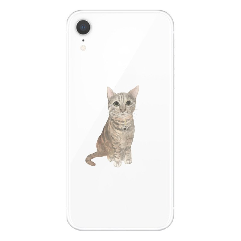Orange Tabby Cat - Mobile Shell | TPU Phone case Anti-fall Air Compressor | Addable Word Design