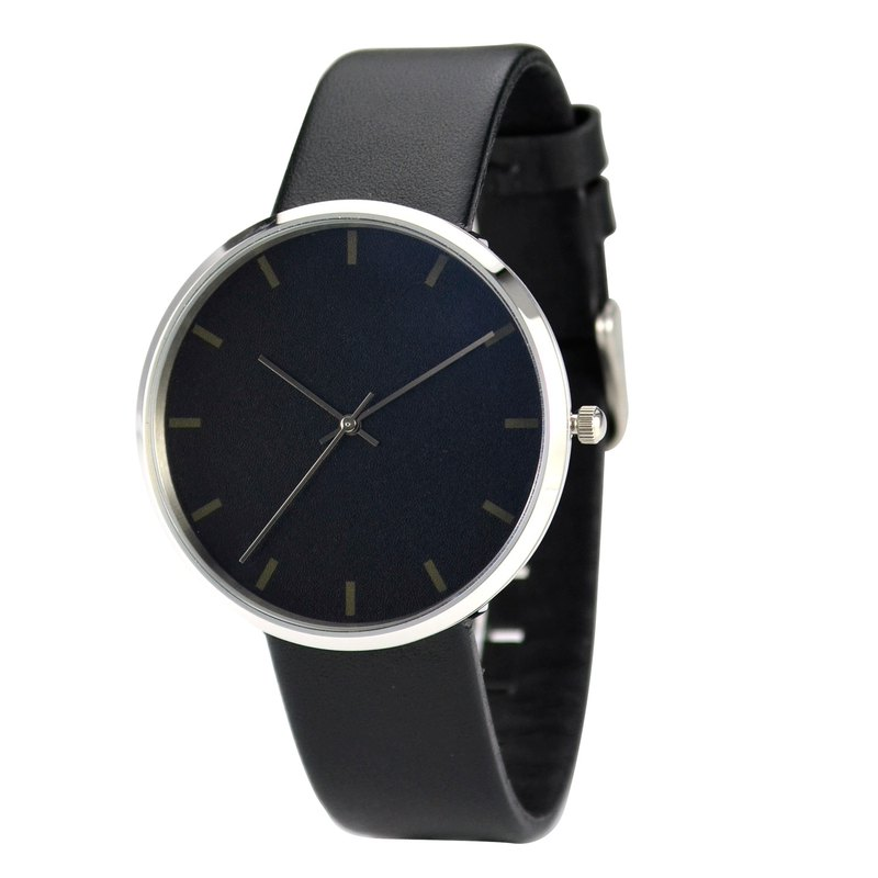 Nameless Minimalist Watch Faintly Discernible Stripes Unisex