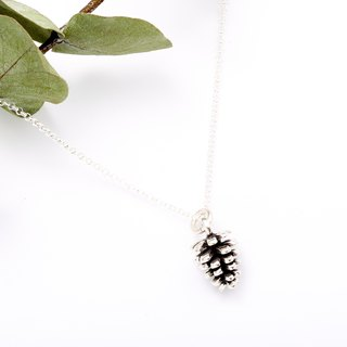 Pine Cone 925 sterling silver necklace Valentine's Day gift