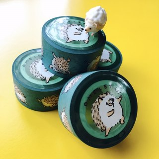 Hedgehog ohm egg paper tape