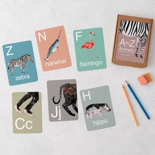 A - Z ANIMAL ALPHABET FLASH CARDS