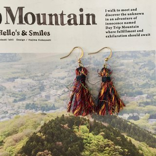 Handmade petit tassel earrings  |  fair-trade recycled sari silk