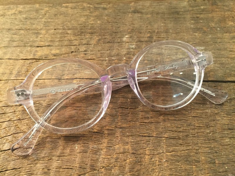 Absolute Vintage - Stanley Street (Stanley Street) circular frame plate glasses Young - Crystal clear