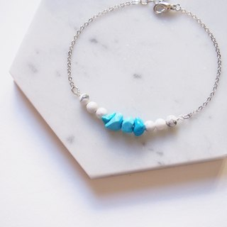 Vacation sea breeze · turquoise turquoise white turquoise · rhodium-plated copper bracelet · gift