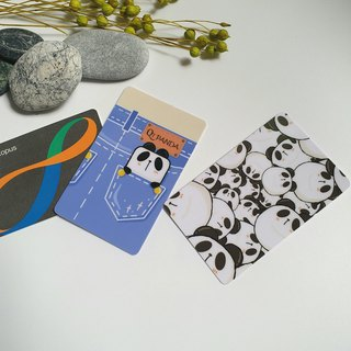 Hong Kong original design [Panda Crystal Card] Octopus card paste |