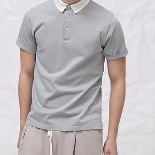 Unique collar design polo shirt