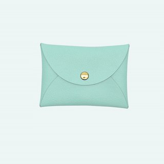 Real leather macarons Tiffany blue card holder/wallet/card holder/card case