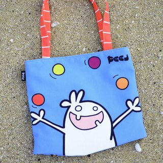 'Day at the beach' Double Sided Designed Canvas Shoulder Bag