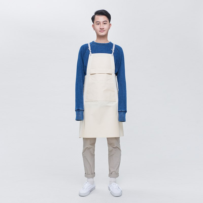 Rin City Apron ACE - Embroidered Cloth 6 Pocket Cotton Staff Overalls