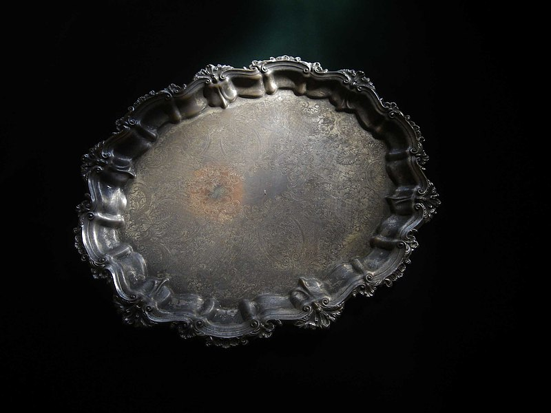[OLD-TIME] Early European large carved copper silver plate