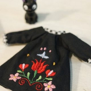 Holala size handmade flower embroidery witch dress