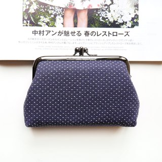 Snowed two coin purses / gold bag [made in Taiwan]