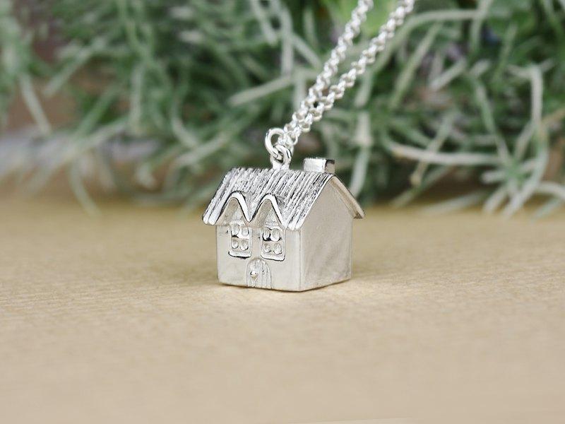 家 Home (可客製化刻字 純銀項鍊 情人節禮物) - C%手工飾品