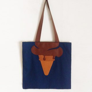 Ice-cream, Chocolate, Tote bag - handmade