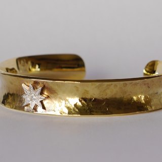 Star bangle (brass) star bangle brace brass