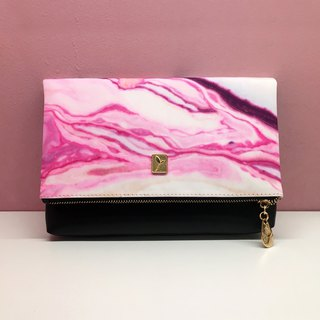 Abstract pink purple natural pattern clutch bag new shoulder bag package party bag chain bag