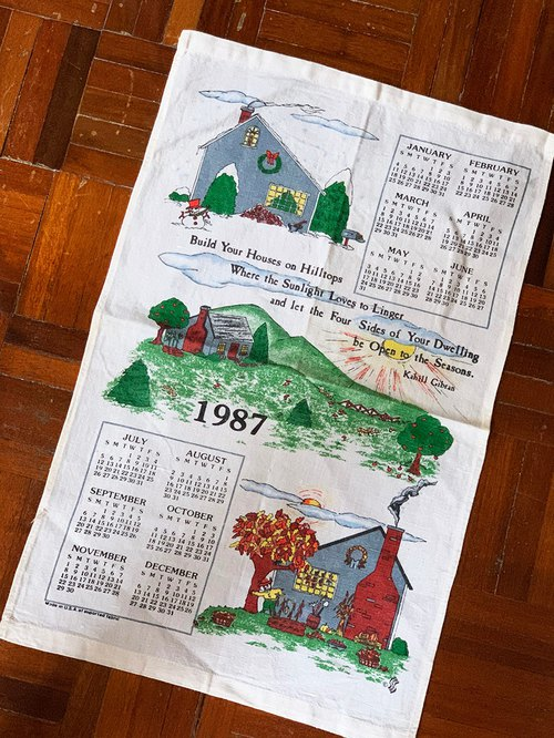 1988 Early American Oil Calendars home is where you love