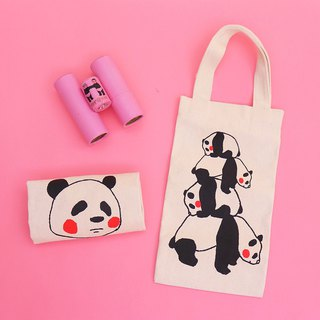 パンダPanda Kettle Drink Bag / 绢版 Hand Print