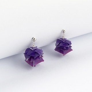 Valerian purple silver earrings level
