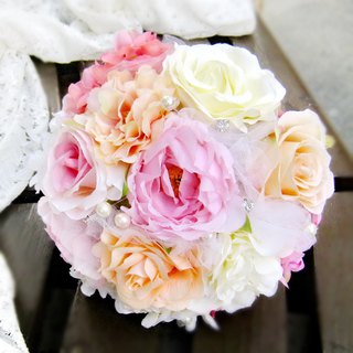 Wedding flower bouquet, bridal bouquet, briidesmaid bouquet B001