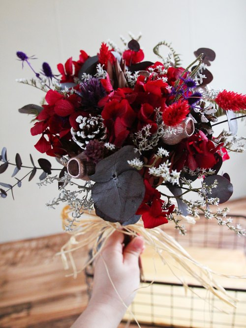 │ Preserved flowers / dried flower bouquet │ ♥ Rouge Noir ...