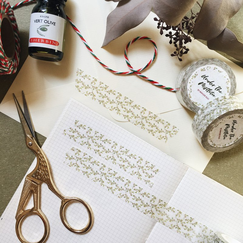 Under The Mistletoe Washi Tape