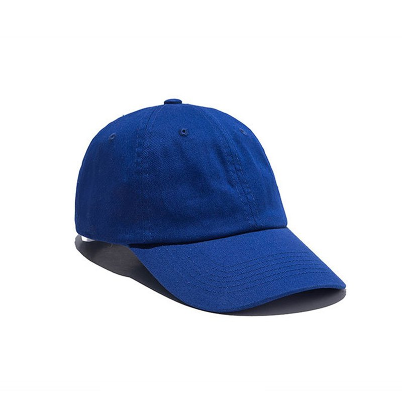 Pure color washed casual hat sapphire - customized M8366