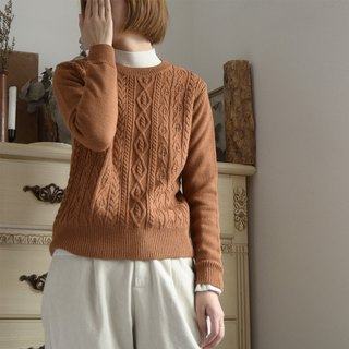 Japanese round neck jacquard sweater - caramel | sweater | autumn and winter models | wool blend | independent brand | Sora-220