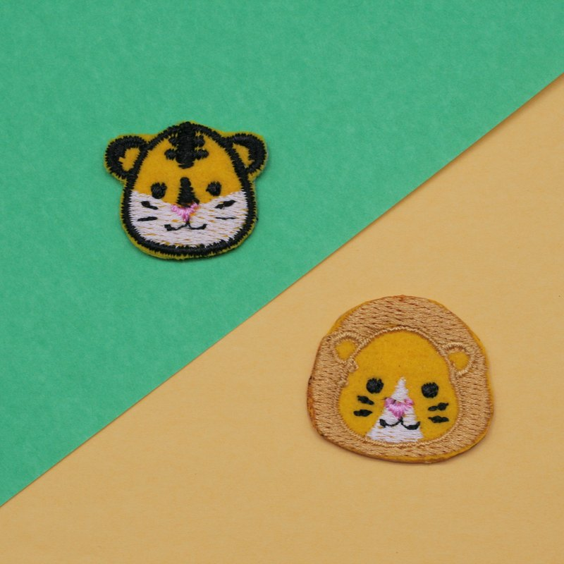 Lion&Tiger Set Iron Patch (set of 2)