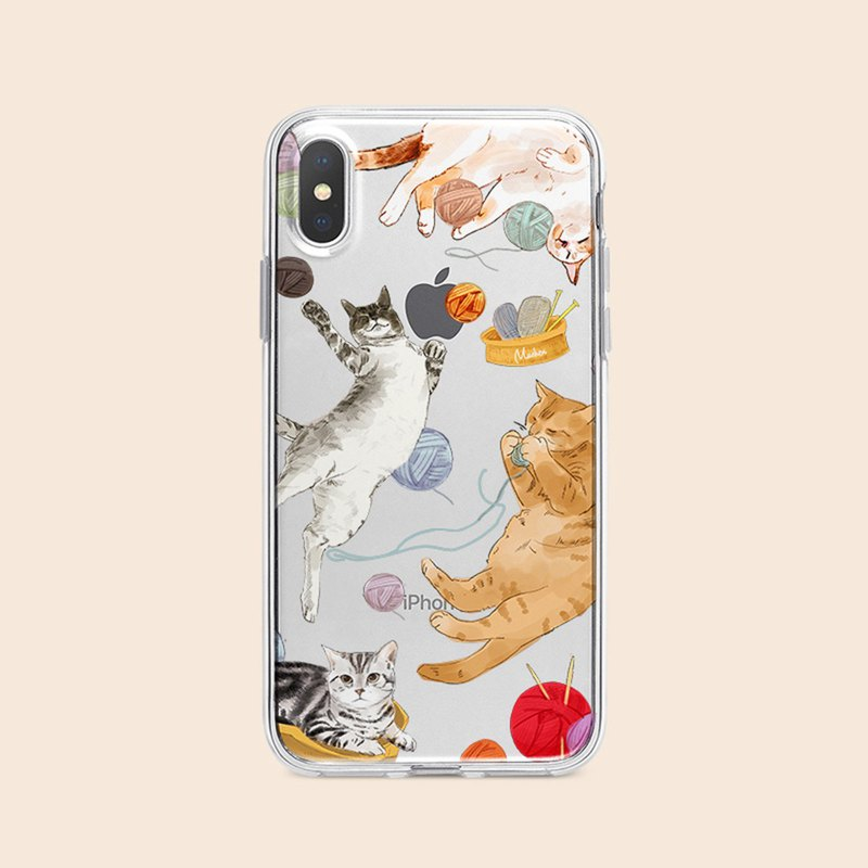 Hair ball cat / embossed air shell - iPhone / Samsung, HTC.OPPO.ASUS phone case