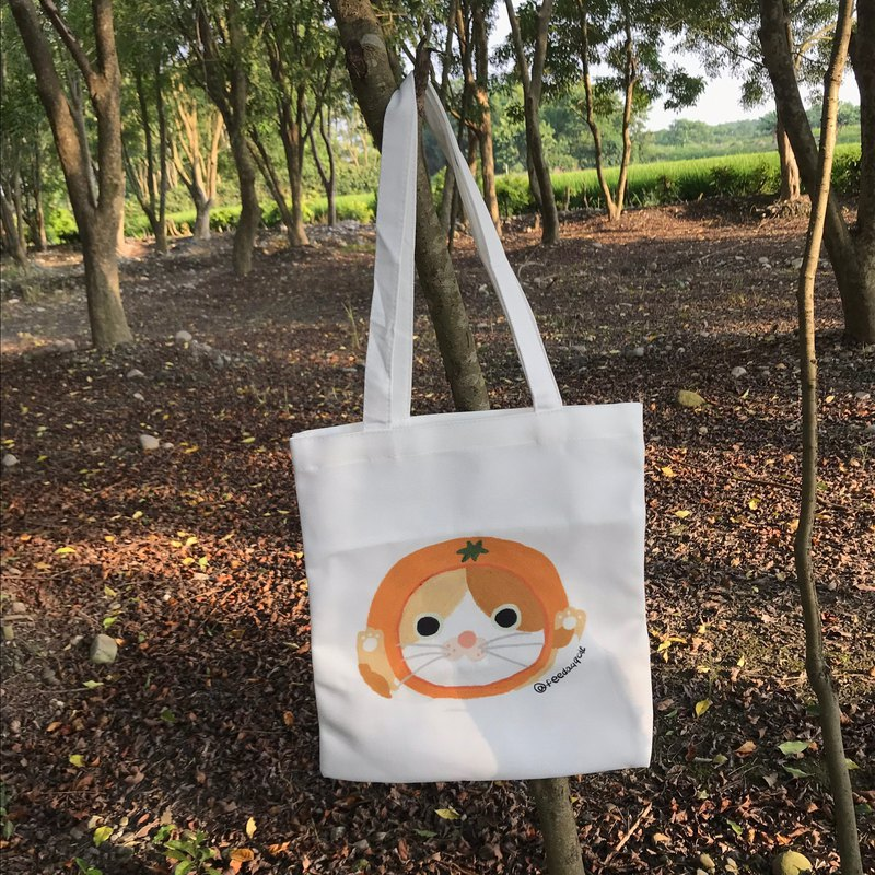 Tote bag series | orange kitten