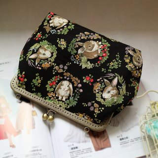 Black Forest Rabbit Cross Body Bag L Size | Girlskioku~*