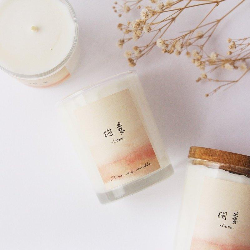 【相愛】清新玫瑰香 / 大豆精油蠟燭  60g