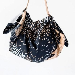 Mountain Blossom Midnight Blue Furoshiki Bag