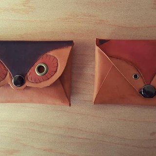 Owl retro portable pure leather business card holder - (limited edition)