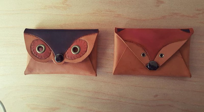 Owl Vintage Carrying Pure Leather Card Holder - (Limited)