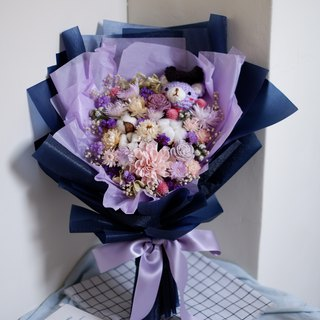 Custom Exclusive Order - Graduation Bear Purple Hand Bouquet Bouquet For dear Mei Wen