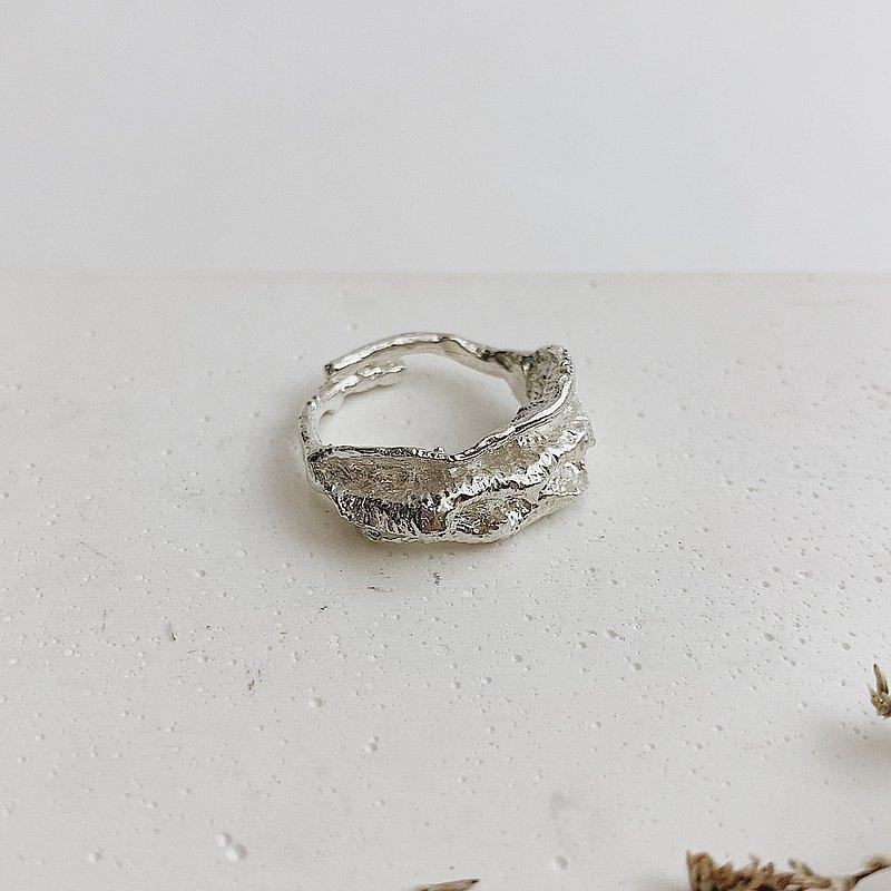 925純銀手工製作戒指/葉的狂想#8
