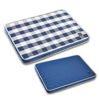 Lifeapp Pet Relief Sleeping Pad Large Plaid---M (Blue White) W80 x D55 x H5 cm