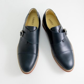LANNY LANEY / Canghai blue single button Mengke shoes _ male
