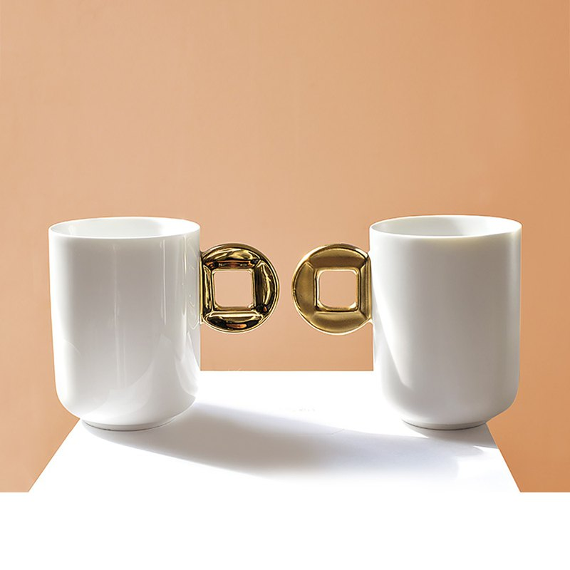 Large capacity mug ceramic cup simple coffee milk creative breakfast cup household water cup couple tea cup